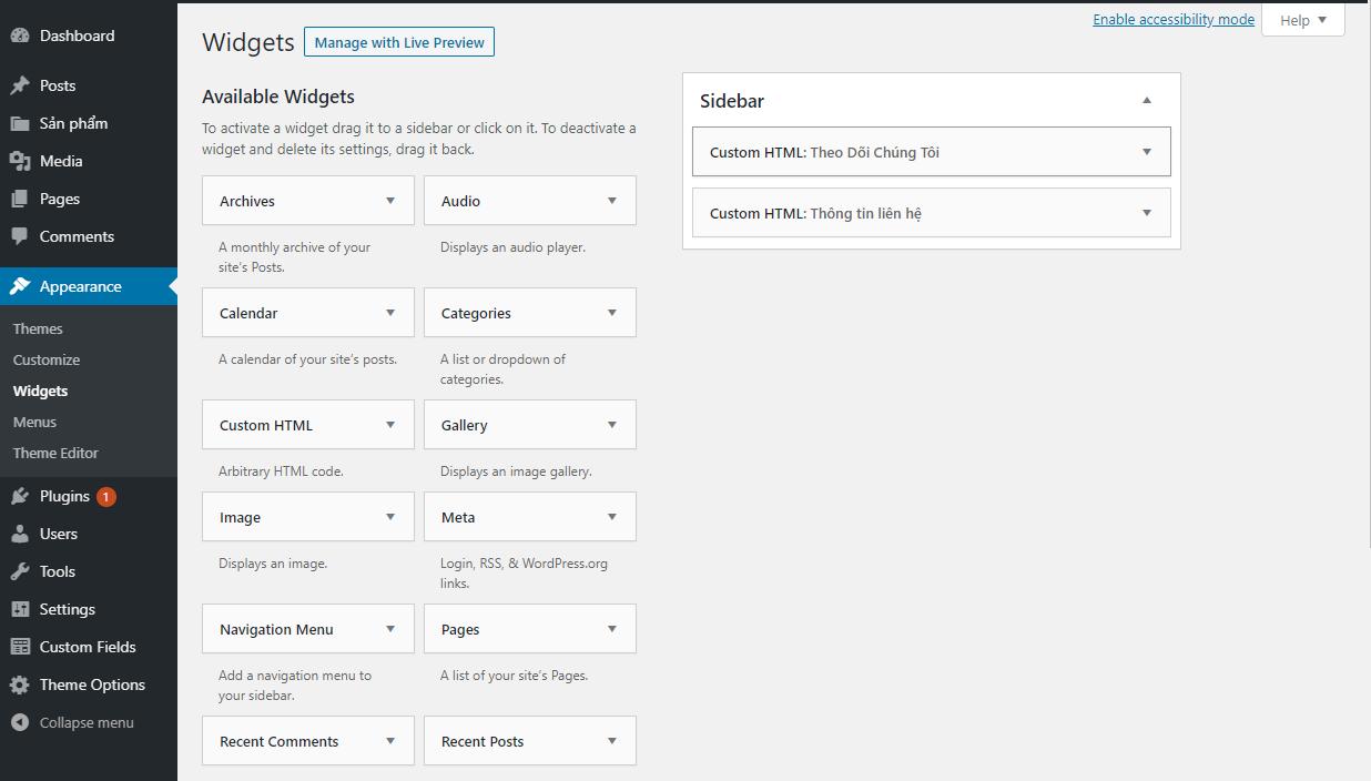 Customize Sidebar image