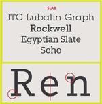 Type-face-Slap serif